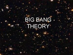 BIG BANG THEORY Universe Space all the matter