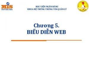 HC VIN NG N HNG KHOA H THNG