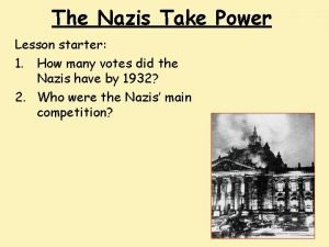 The Nazis Take Power Lesson starter 1 How