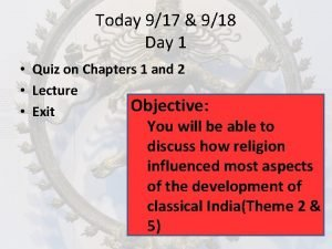 Today 917 918 Day 1 Quiz on Chapters