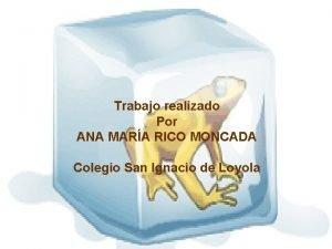 Trabajo realizado Por ANA MARA RICO MONCADA Colegio