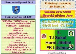 Hlavn partnei pro rok 2018 Fotbalov zpravodaj SK