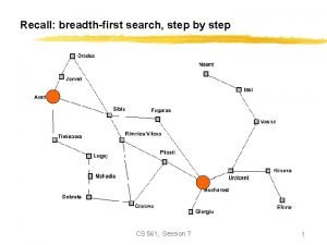 Recall breadthfirst search step by step CS 561