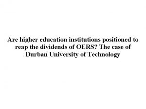 Are higher education institutions positioned to reap the