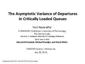 The Asymptotic Variance of Departures in Critically Loaded