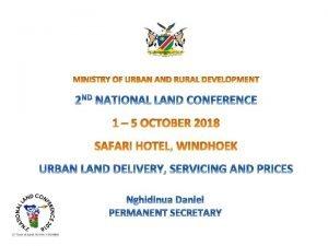 Legal framework Land delivery process Urban land pricing