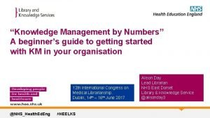 Knowledge Management by Numbers A beginners guide to
