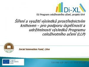 EU Program celoivotnho uen projekt KA 4 en