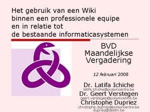 Het gebruik van een Wiki binnen een professionele