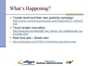 Whats Happening n Toyota recall and their new