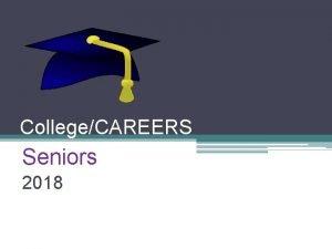 CollegeCAREERS Seniors 2018 Plan After High School Please