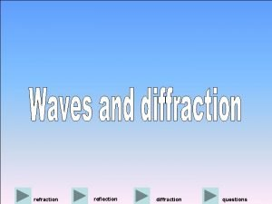 refraction reflection diffraction questions previous next Diffraction is