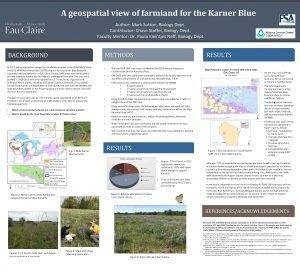 A geospatial view of farmland for the Karner