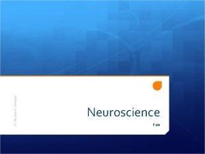 Dr Michael P Gillespie Neuroscience Pain Pain is