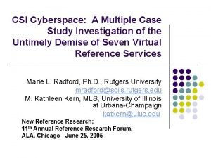 CSI Cyberspace A Multiple Case Study Investigation of
