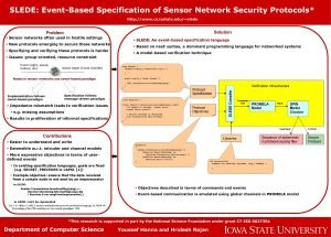 SLEDE EventBased Specification of Sensor Network Security Protocols
