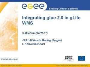 Enabling Grids for Escienc E Integrating glue 2