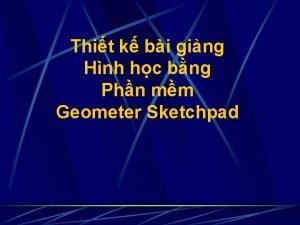 Thit k bi ging Hnh hc bng Phn