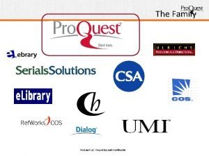 The Family Pro Quest LLC Proprietary and Confidential