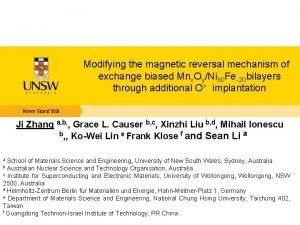 Modifying the magnetic reversal mechanism of exchange biased