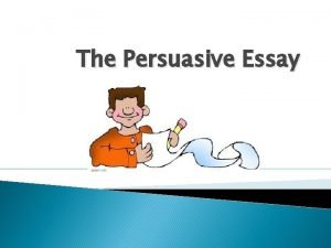 The Persuasive Essay The Introductory Paragraph The Introductory