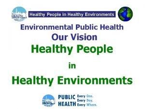 Healthy People in Healthy Environments Environmental Public Health