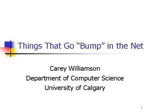 Things That Go Bump in the Net Carey