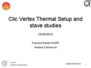 Clic Vertex Thermal Setup and stave studies 23092013