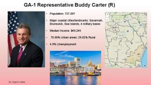 GA1 Representative Buddy Carter R Population 727 997