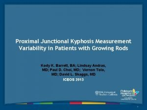 Proximal Junctional Kyphosis Measurement Variability in Patients with