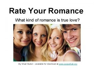 Rate Your Romance What kind of romance is