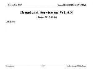 November 2017 doc IEEE 802 11 171736 r