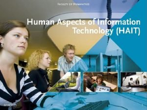 9182020 1 Human Aspects of Information Technology Information