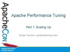 Apache Performance Tuning Part 1 Scaling Up Sander