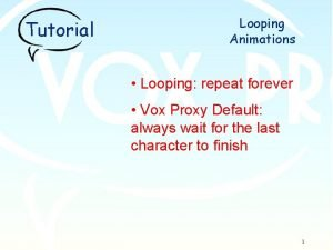 Tutorial Looping Animations Looping repeat forever Vox Proxy