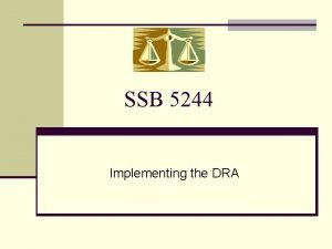 SSB 5244 Implementing the DRA New Child Support