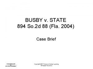 BUSBY v STATE 894 So 2 d 88