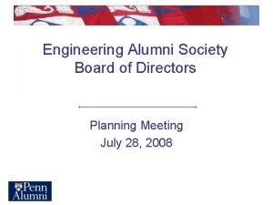 Engineering Alumni Society Board of Directors Planning Meeting