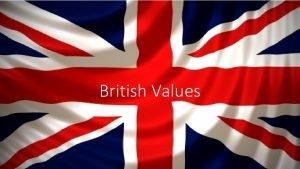 British Values So what are British Values According