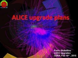 ALICE upgrade plans Paolo Giubellino LHCC Upgrades CERN