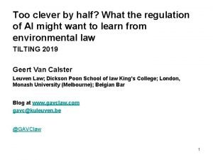 Too clever by half What the regulation of