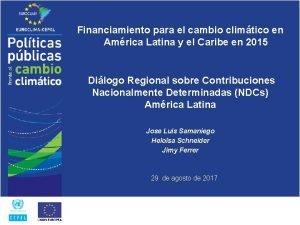Financiamiento para el cambio climtico en Amrica Latina