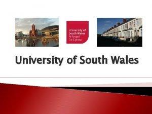 University of South Wales Glamorgan Glamorgan ist die