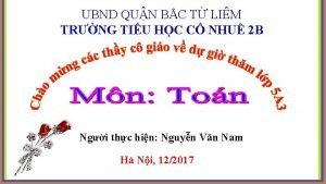 UBND QUN BC T LIM TRNG TIU HC