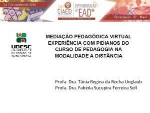 MEDIAO PEDAGGICA VIRTUAL EXPERINCIA COM PIDIANOS DO CURSO