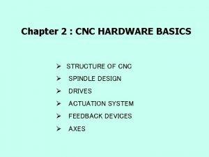 Chapter 2 CNC HARDWARE BASICS STRUCTURE OF CNC
