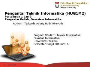 Pengantar Teknik Informatika HUG 1 M 2 Pertemuan