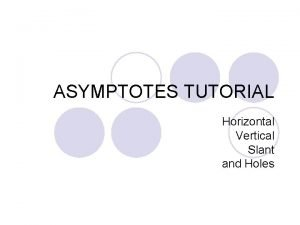 ASYMPTOTES TUTORIAL Horizontal Vertical Slant and Holes Definition