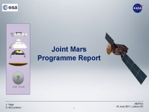Joint Mars Programme Report Joint Rover J Vago