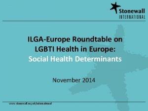 ILGAEurope Roundtable on LGBTI Health in Europe Social